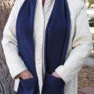 NAVY BLUE Handwarmer Pocket Winter Scarf Design Fleece Neck 70 x 9 S2009722