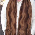 Brown Faux Fur Fake  Fur Lined Handwarmer Pocket Winter Scarf Neck 70 x 8 S2009733