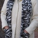 Zebra Design Fleece Handwarmer Pocket Winter Scarf Design Neck 72 x 9 S2009738