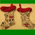 Small Christmas Stocking Dog Lover Handmade One of a Kind 20095