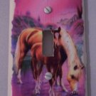 LIGHTSWITCH PLATE COVER Horses Handmade in the USA