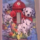 LIGHTSWITCH PLATE COVER Dalmation Puppies Dogs Handmade in the USA