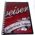 Journal Notebook Recycled Upcycled from BUDWEISER BEER Box Handmade in the USA #2010009