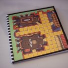 Journal Notebook Recycled Upcycled from CLUE GAME BOARD Made in USA #2010052