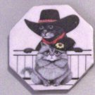 Ceramic TILE MAGNET Cat Cartoon design 2.5 inch Refrigerator magnet 2010079