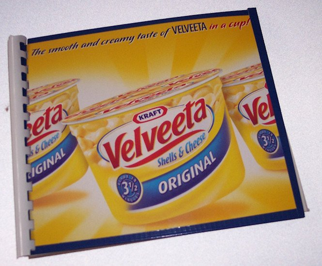 Journal Notebook Recycled Upcycled from VELVEETA MAC N CHEESE BOX Made in USA 2010083