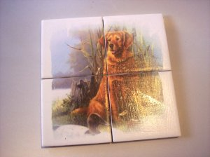 Wall Tiles Golden Lab Dog Pets Animals Made in the USA #2010100