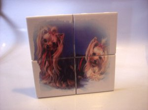 Wall Tiles YORKIES Dog Pets Animals Made in the USA #2010102