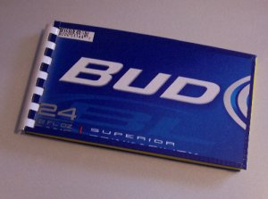 Notebook Journal Recycled Upcycled from BUD LIGHT BEER Box #2010137