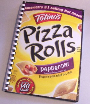 Notebook Journal Recycled Upcycled from PIZZA ROLLS Box #2010119