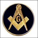 "BLUE LODGE EMBLEM ( BLACK )3"" POLY-CARBONATE  Masonic Motorcycle / Auto Car Emblem"