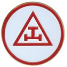 "TRIPLE TAU 3"" POLY-CARBONATE  Masonic Motorcycle / Auto Car Emblem"