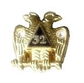 DOUBLE EAGLE/PHOENIX SCOTTISH RITE LAPEL PIN TIE TACK D