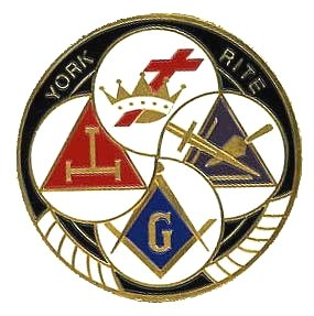 AUTO CAR BADGE EMBLEM - YORK RITE KNIGHTS TEMPLAR COMMANDERY CRYPTIC - MASONS MASON MASONIC MASONRY