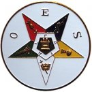ORDER OF THE EASTERN STAR OES AUTO CAR BADGE EMBLEM MASONIC MASONRY FREEMASONS FREEMASONRY BRASS