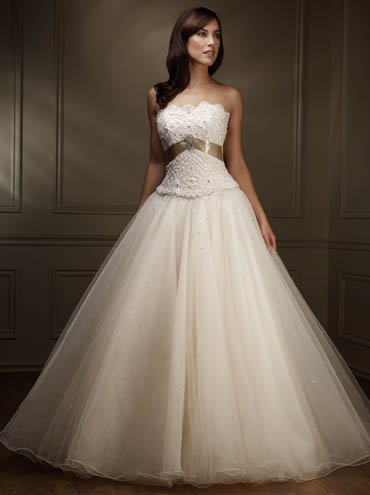 elegant wedding dress SKU870086