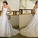 Free shipping maggie sottero a line strapless wedding dress Adena