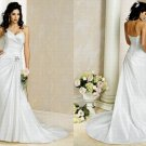 Free shipping maggie sottero a line strapless wedding dress Adrianna