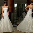 Free shipping maggie sottero a line strapless wedding dress Aleta