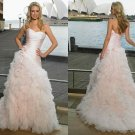 Free shipping maggie sottero a line strapless wedding gown Amour Bouquet