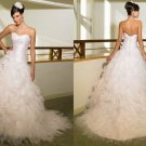 Free shipping maggie sottero a line strapless wedding gown Amour Royale