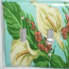 CALL LILIES FLORAL DECOR DECORATIVE LIGHT SWITCHPLATE COVER