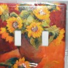 STYLISH SUNFLOWERS DECORATIVE LIGHT SWITCHPLATE COVER