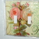 SHABBY CABBAGE ROSES DECORATIVE  DESIGN LIGHT SWITCHPLATE COVER