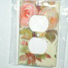 SHABBY CABBAGE ROSE DESIGN ELECTRICAL OUTLET PLUG PLATE COVER