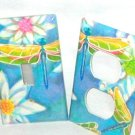 DRAGONFLY AND LOTUS DECORATIVE LIGHT SWITCHPLATE &OUTLET COVER SET