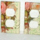 CABBAGE ROSE SHABBY CHIC, COTTAGE CHIC OUTLET PLUG PLATE SET