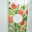 RETRO ROSE AND RIBBON DESIGN DECORATIVE CEILING FAN OUTLET PLATE COVER