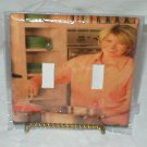 Domestic goddess MARTHA STEWART decorative light switchplate cover