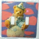 ADORABLE CLOWN TEDDY BEAR DECORATIVE LIGHT SWITCHPLATE COVER