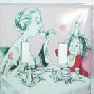 ELOISE AND NANNY AT THE BREAKFAST TABLE DECORATIVE LIGHT SWITCHPLATE COVER
