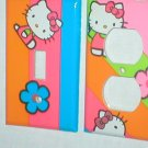 CUTE & COLORFUL HELLO KITTY DECORATIVE LIGHT SWITCHPLATE & OUTLET