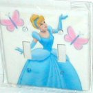 CINDERELLA AND BUTTERFLIES DECORATIVE LIGHT SWITCHPLATE COVER(b)