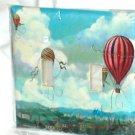 FRENCH CHIC HOT AIR BALLOONS DECORATIVE LIGHT SWITCHPLATE COVER(a)