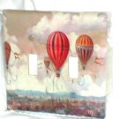 FRENCH CHIC, FRENCH COUNTRY HOT AIR BALLOONS DECORATIVE LIGHT SWITCHPLATE COVER(c)