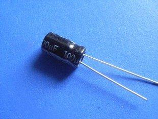 100UF 25V Electrolytic Capacitor (Item# C0108)