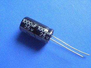 1000UF 25V Electrolytic Capacitor (Item# C0111)