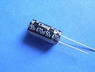 470UF 50V Electrolytic Capacitor (Item# C0120)