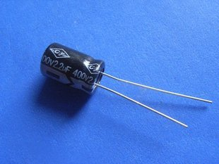 2.2UF 400V Electrolytic Capacitor (Item# C0125)
