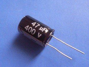47UF 400V Electrolytic Capacitor (Item# C0126)