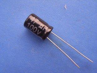 47UF 100V Electrolytic Capacitor (Item# C0140)