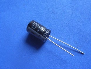 100UF 50V Electrolytic Capacitor (Item# C0146)