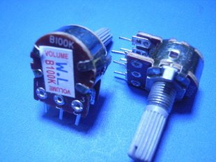B type 100K (104) Double VR Potentiometer (Item# T0032)