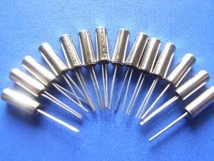 38KHz Crystal oscillator, Cylinder 3x8mm, 10 pcs.  (Item# X0023)