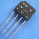 Rectifier Bridge,KBL610 6A1000V , 5pcs. (Item# D0011)