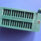 ZIF IC Socket, 28P, gold plated, 2 pcs. (Item# Z0006)